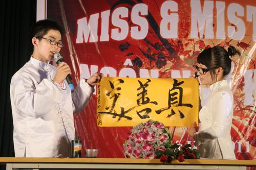 Sắc màu Việt - Trung trong đêm chung kết Miss & Mr Ngôn ngữ 2011 - 2