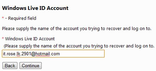 Khôi phục lại mật khẩu tài khoản Windows Live/Hotmail đã mất, Tin học văn phòng, Công nghệ thông tin, Khoi phuc lại tai khoan Windows Live/Hotmail, Windows Live/Hotmail, Windows Live, Hotmail, tai khoan, vi tinh, internet