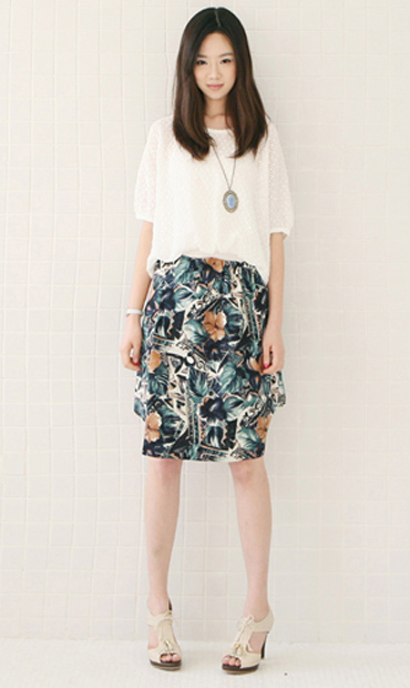 Tư vấn: Mặc váy hoa, quần ngắn với người gầy - 6
