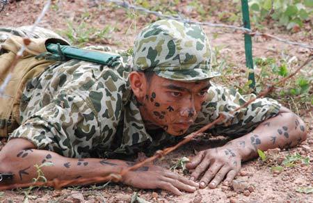 Xem bộ đội đặc công ngụy trang tập luyện - 3