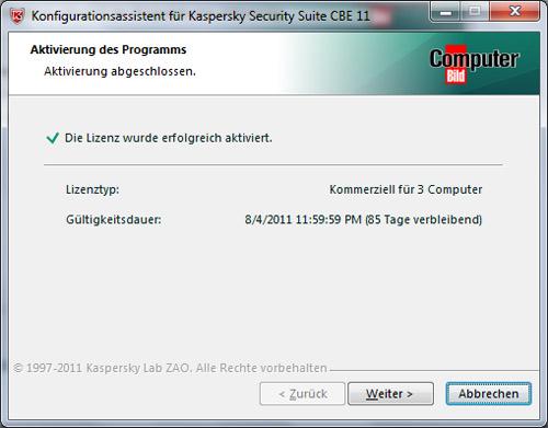 Miễn phí key bản quyền 1 năm Kaspersky Security Suite CBE 11 - 6