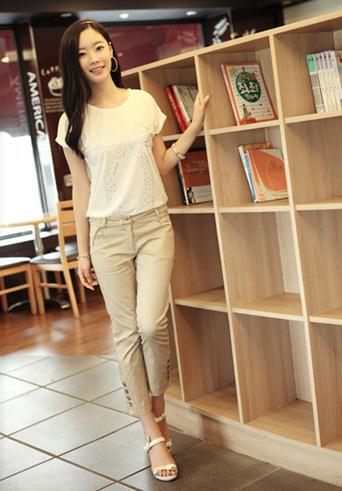 Kiểu quần đẹp và mát cho nữ công sở - 5