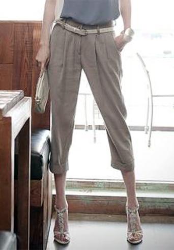 Kiểu quần đẹp và mát cho nữ công sở - 9