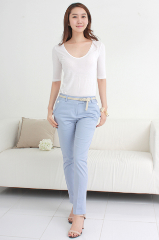 Kiểu quần đẹp và mát cho nữ công sở - 10