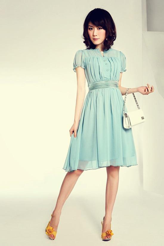 Váy liền thanh tao cho nữ công sở - 4
