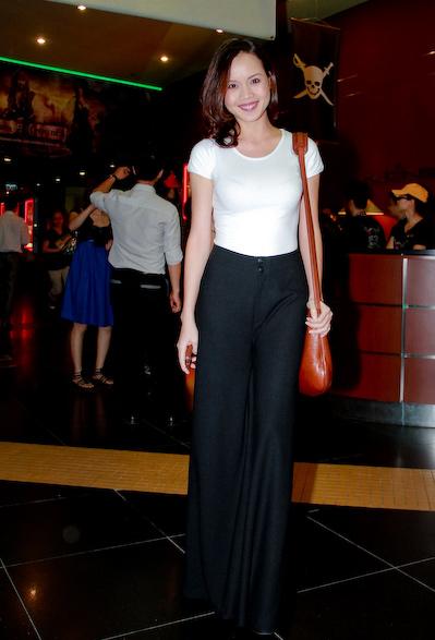 Ngọc Oanh mặc đẹp với quần ống suông - 1