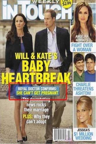 Rộ tin đồn vợ hoàng tử William khó có con - 1