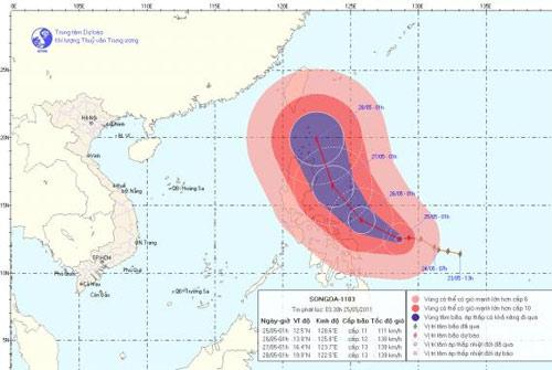 Tin bão gần Biển Đông - 1