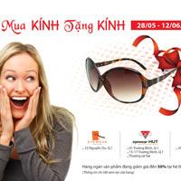 Tận hưởng chương trình mua kính tặng kính