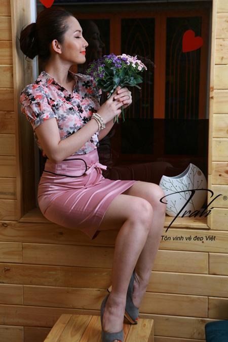 Kim Hiền xinh tươi với thời trang Trali - 1