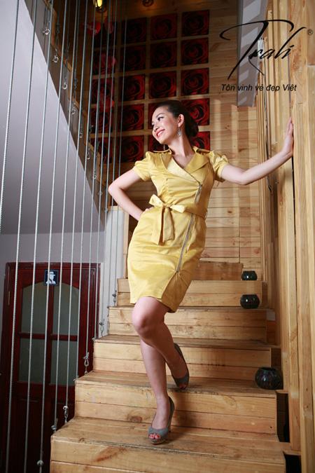 Kim Hiền xinh tươi với thời trang Trali - 4