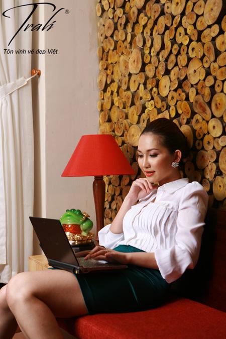 Kim Hiền xinh tươi với thời trang Trali - 9