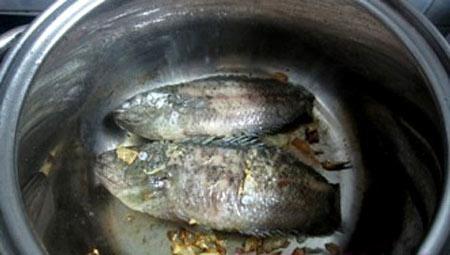 Canh rau đay mồng tơi nấu cá rô đồng - 3