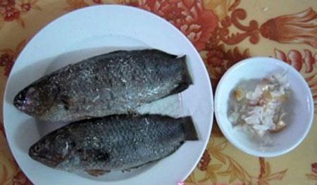 Canh rau đay mồng tơi nấu cá rô đồng - 2
