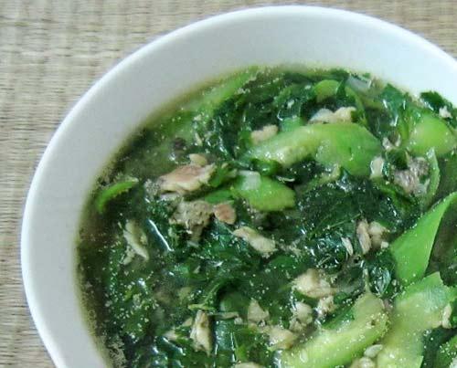 Canh rau đay mồng tơi nấu cá rô đồng - 7