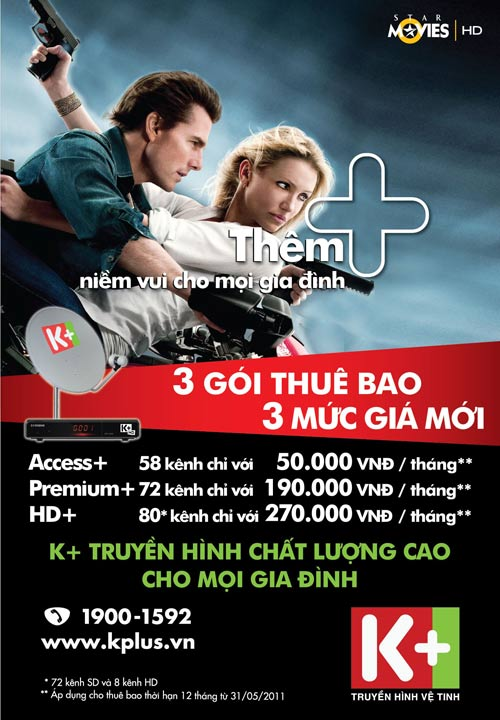 K +: Cơ hội xem truyền hình trả tiền cạnh tranh nhất tại VN - 1