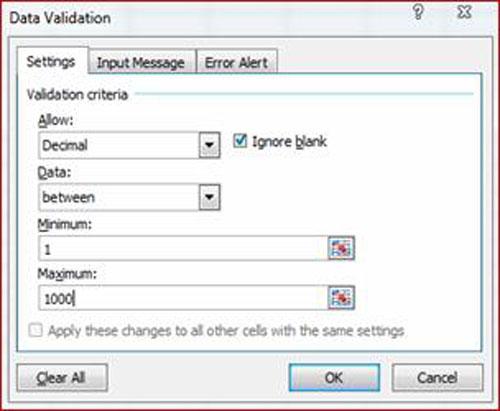 Tránh lỗi nhập dữ liệu trong Excel - 1