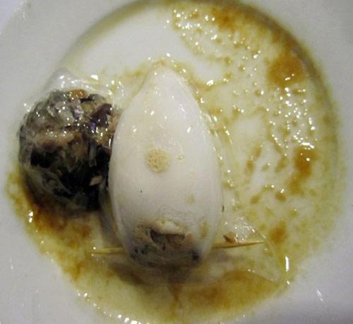 Giòn giòn dai dai mực nhồi thịt hấp - 2