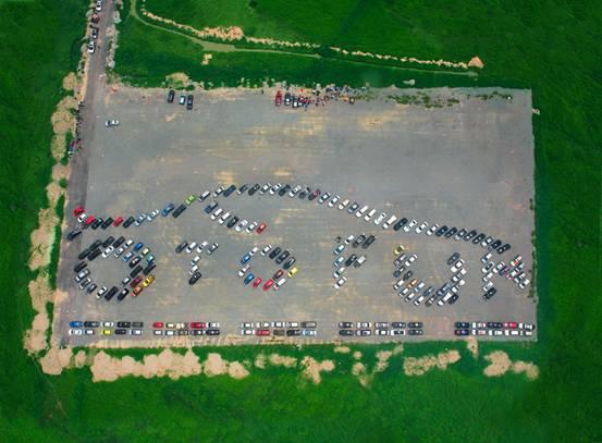 Kỷ lục Việt Nam: Mô hình xếp logo bằng ôtô lớn nhất - 1
