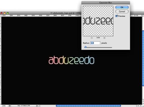 Tạo kiểu chữ phát sáng với Photoshop - 5