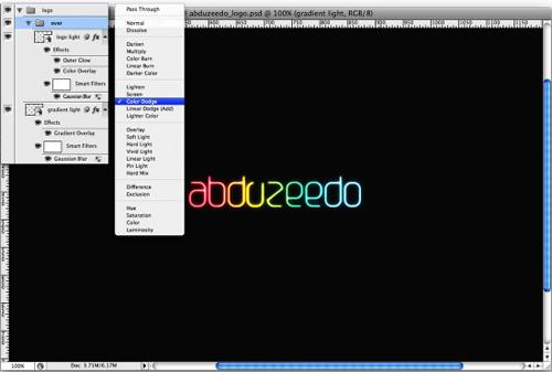 Tạo kiểu chữ phát sáng với Photoshop - 7
