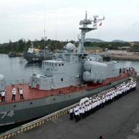 Xác nhận tập trận trên biển Đông