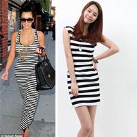 Tư vấn: Có nên mặc váy kẻ ngang như cô Kim?