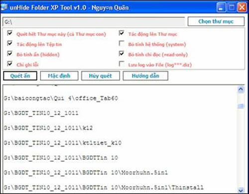 Khắc phục file bị virus ẩn trong explorer - 4