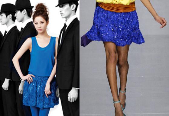 Học sao Hàn khoe chân sexy với miniskirt - 12