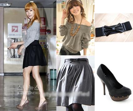 Học sao Hàn khoe chân sexy với miniskirt - 23