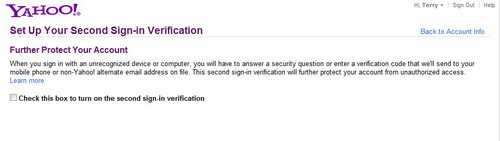 Dùng mật khẩu hai lớp cho tài khoản Yahoo! Mail - 1