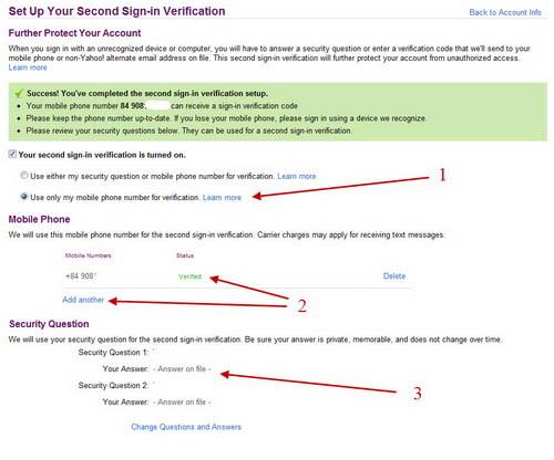 Dùng mật khẩu hai lớp cho tài khoản Yahoo! Mail - 4