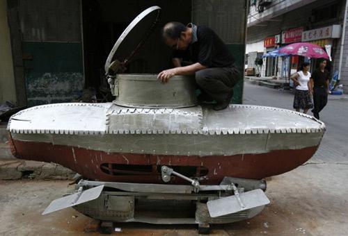 Lạ đời chiếc xe quét rác tự chế - 5