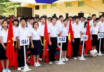 Lớp 6 xét điểm trên môn toán và tiếng Việt - 1