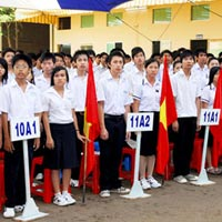 Lớp 6 xét điểm trên môn toán và tiếng Việt