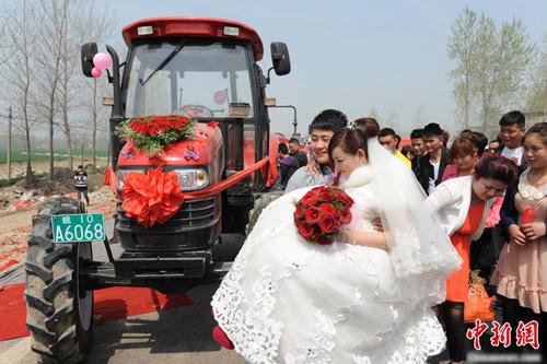 Ấn tượng màn rước dâu bằng máy kéo - 2