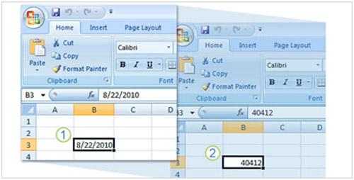 Cách dùng hàm trong Excel 2007 để xác định thông tin ngày - 1