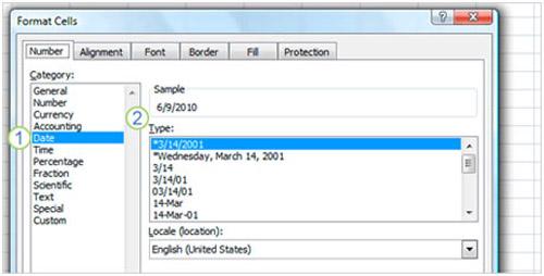 Cách dùng hàm trong Excel 2007 để xác định thông tin ngày - 3