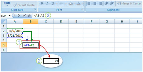 Cách dùng hàm trong Excel 2007 để xác định thông tin ngày - 5
