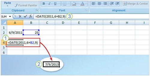 Cách dùng hàm trong Excel 2007 để xác định thông tin ngày - 8