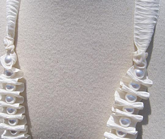 Chế vòng cổ bằng ruy-băng và ngọc trai - 8