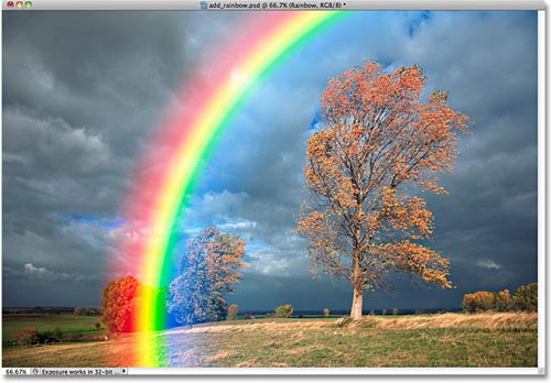 Tạo hiệu ứng cầu vồng sau mưa bằng Photoshop - 10