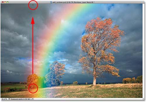 Tạo hiệu ứng cầu vồng sau mưa bằng Photoshop - 15