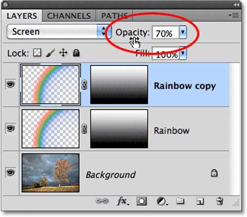 Tạo hiệu ứng cầu vồng sau mưa bằng Photoshop - 16