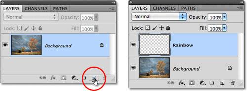 Tạo hiệu ứng cầu vồng sau mưa bằng Photoshop - 2