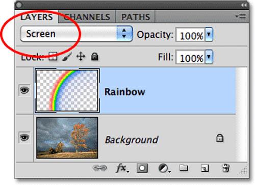 Tạo hiệu ứng cầu vồng sau mưa bằng Photoshop - 9