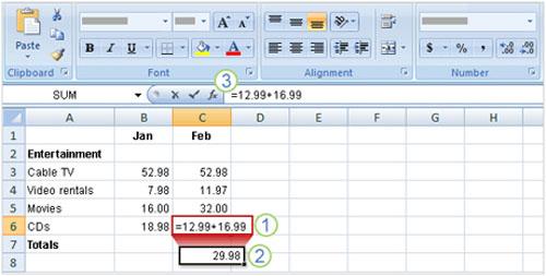 Tìm hiểu Excel 2007: Cách nhập công thức - 2