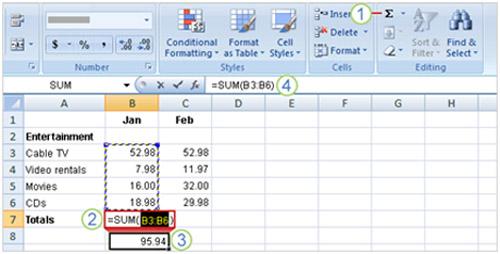 Tìm hiểu Excel 2007: Cách nhập công thức - 3