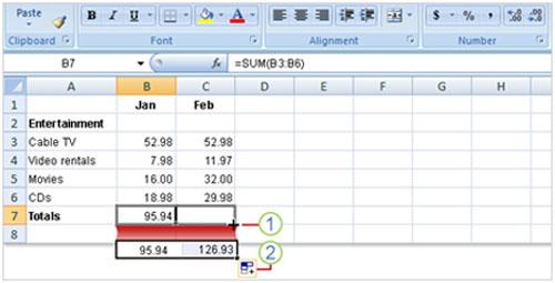 Tìm hiểu Excel 2007: Cách nhập công thức - 4