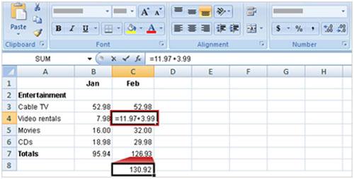 Tìm hiểu Excel 2007: Cách nhập công thức - 5